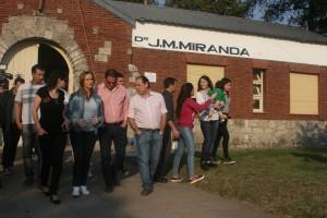 Recorrieron el Hospital Miranda de Cerrito