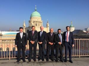 Bahl se reunió en Alemania con el vicepresidente del Parlamento Regional de Brandeburgo, Dieter Dombrowski.