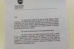 Galimberti se expresó en contra y aseguró que no hubo quórum al momento de la votación.